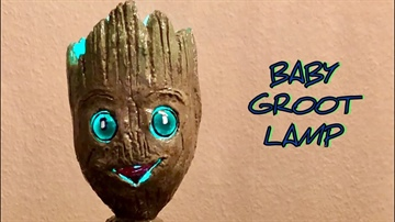 DIY - Baby Groot Lampa / Guardians of the Galaxy 2