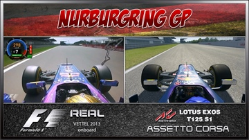 Assetto Corsa vs Real Life - Nürburgring Comparison / Lotus S1 & RB9
